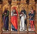 Bartolomeo vivarini e bottega, natività tra santi e cristo in pietà, 04.jpg