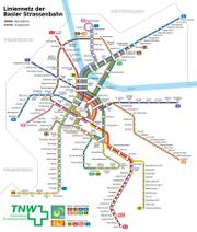 Netzplan des Basler Trams