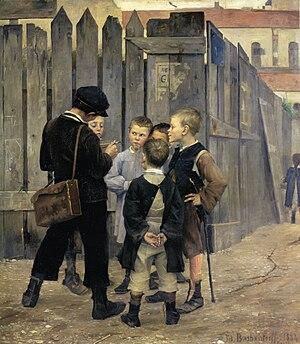 1884 in art - Image: Bashkirtseff The Meeting