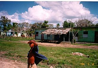 Batey (sugar workers' town) - Dwellings on a batey in Holguín, Cuba.