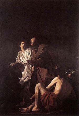 The Denial of Saint Peter (Caravaggio) - Battistello Caracciolo, The Liberation of St Peter, oil on canvas, Church of the Pio Monte della Misericordia (Naples)