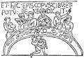 Bayeuxtapeten, Biskop Odo läser bordsbönen, Nordisk familjebok.png