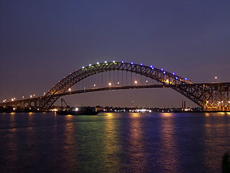 Bayonne Bridge - The original bridge at sunset