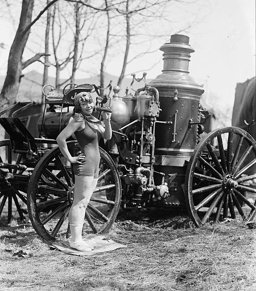 File:Bea Kyle Standing Fire Engine and Pickle 1924.jpg