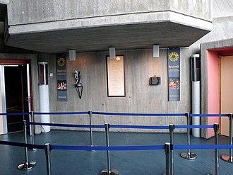 Beaivváš Sámi Našunálateáhter - Entrance doors in the foyer at Beaivváš Sámi Theatre (2014)