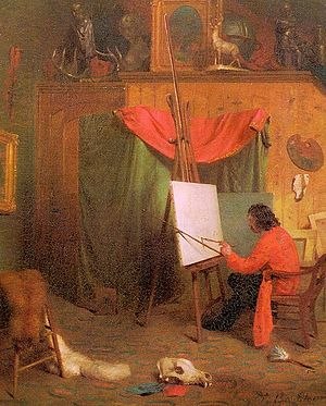William Holbrook Beard -  Self Portrait in the Studio, 1860s, oil on canvas, New York Historical Society