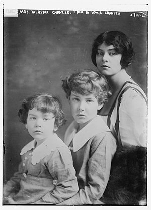 William A. Chanler - Chanler's wife Beatrice Ashley with their two sons circa 1910–1915