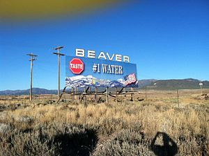 Beaver, Utah - Welcome sign for Beaver, November 2011