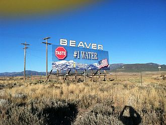 Beaver, Utah - Welcome sign for Beaver, November 2011