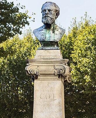 Pierre Auguste Cot - A bust of Cot at Pierre Auguste Cot Memorial, Bédarieux