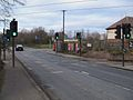 Beddington Lane tramstop level crossing look north.JPG