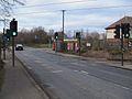 Beddington Lane tramstop level crossing look north.JPG