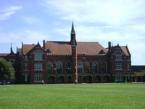Bedford School - A view of the north side of Bedford School's Main School Building