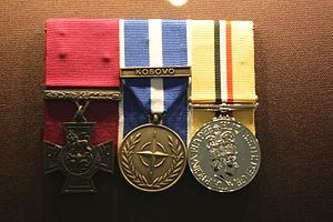 Johnson Beharry - Beharry's medal group on display in 2005
