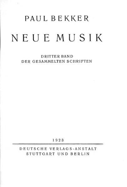 File:Bekker Neue Musik Vortrag.djvu
