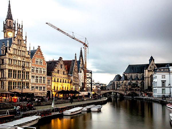 The Graslei is one of the most scenic places in Ghent's old city centre Belgium-12 (37660701324).jpg