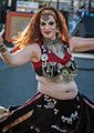 Belly dancer doing the sword dance at the 2012 Las Vegas Age of Chivalry (8104160354).jpg
