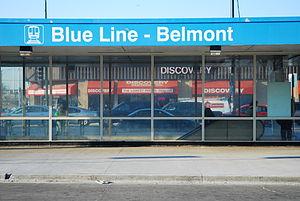 Belmont station (CTA Blue Line) - Station house