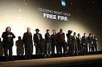 Ben Wheatley and the cast of Free Fire (inc. Armie Hammer, Cillian Murphy, Sam Riley, Sharlto Copley) (29741498254).jpg