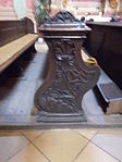 Bench (1750s). Church of Saint Francis. Listed ID 41. - Budapest.JPG