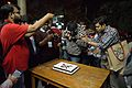 Bengali Wikipedia 10th Anniversary Cake Study - Bengali Wikipedia 10th Anniversary Celebration - Jadavpur University - Kolkata 2015-01-09 3034.JPG