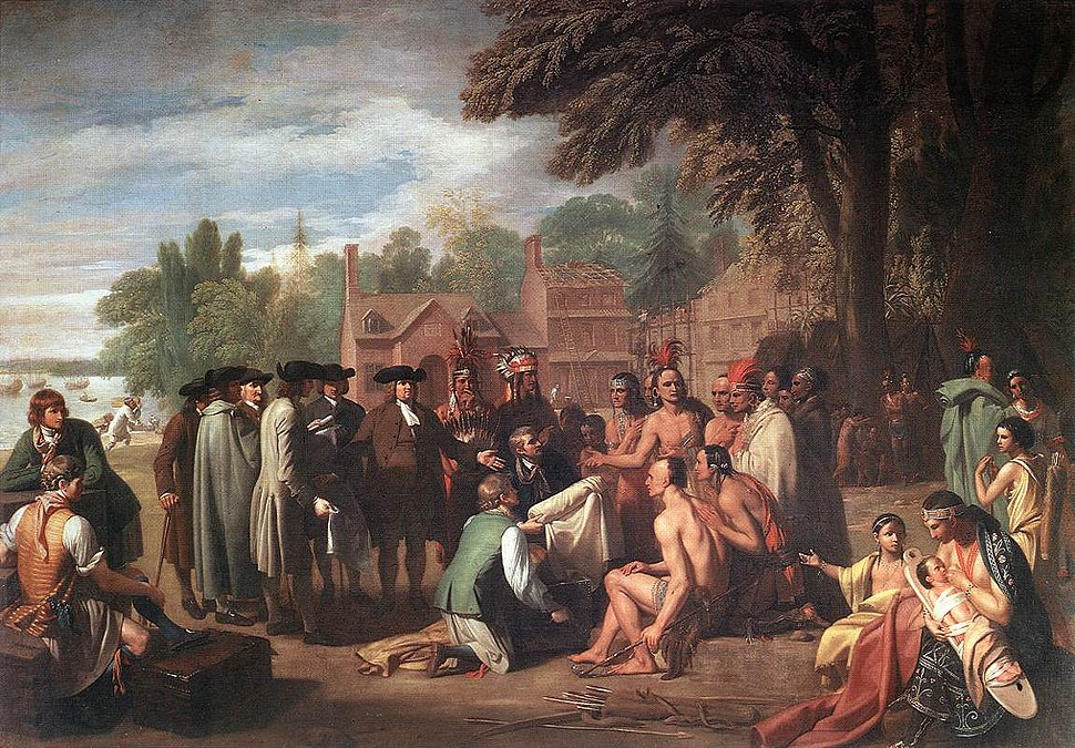 Benjamin West - The Treaty of Penn with the Indians - WGA25555