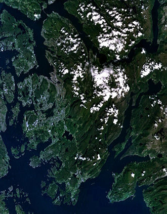 Bergen Peninsula - Satellite image of the peninsula.