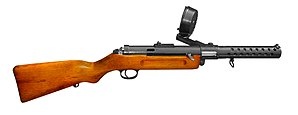 Submachine gun - The Bergmann MP 18 was the world's first practical submachine gun