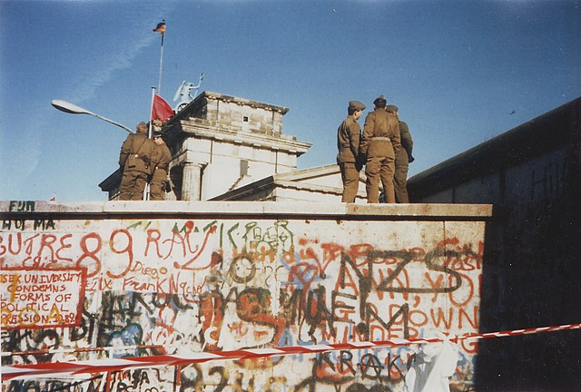 Il Muro di Berlino nel 1989.