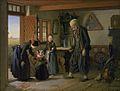 Besøget hos bedstefader. 1853 - Julius Exner.jpg