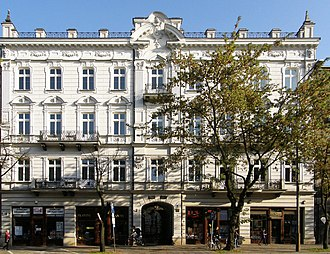 Białystok - A tenement on Sienkiewicz Street, one of the main boulevards in the city