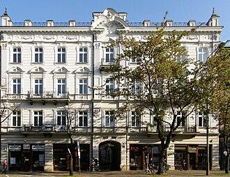Białystok - A tenement on Sienkiewicz Street, one of the main boulevards in the city