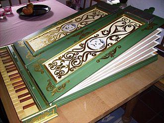 Regal (instrument) - Regal made in 1988, after an instrument made c. 1600 in the Germanischen Nationalmuseum, Nuremberg
