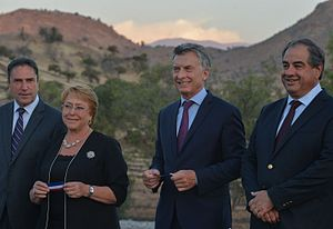 Argentina–Chile relations - Presidents Michelle Bachelet (Chile) and Mauricio Macri (Argentina)