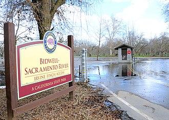Bidwell–Sacramento River State Park - Bidwell–Sacramento River State Park entrance sign