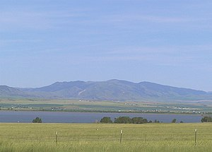 Broadwater County, Montana - Canyon Ferry Reservoir and the Big Belt Mountains outside of Townsend, Montana