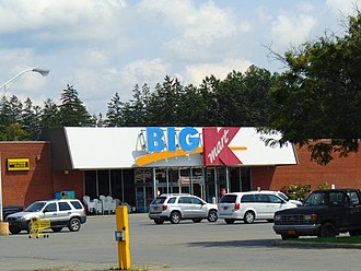 Kmart - A smaller Big Kmart located in Greenwich, New York in 2017. This store closed in March 2019 along with 79 other Kmart and Sears stores.