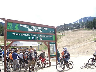 Whistler Blackcomb - Riders waiting in the Fitzsimmons chairlift line