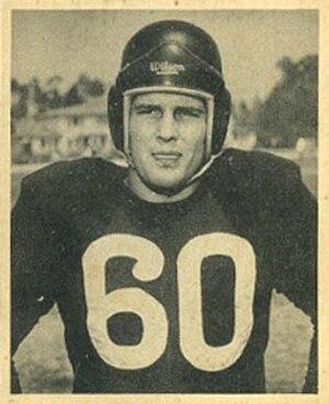 Bill Gray (American football) - 1948 Bowman card