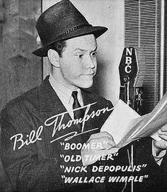 Bill Thompson (voice actor) - Thompson circa 1939