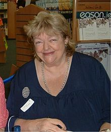 Maeve Binchy in 2006 at a book signing in Dublin