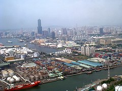 Birds eye view, Kaohsiung, Taiwan.JPG