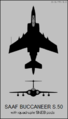 Blackburn Buccaneer S.50 two-view silhouette.png