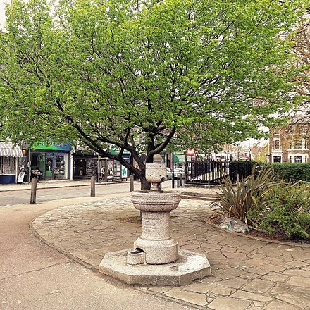 Memorial fountain on south side of Batley Park in the Standard Blackheath Bartley Park.jpg
