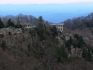 Blowing Rock (land feature) - The observation deck at Blowing Rock.