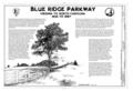 Blue Ridge Parkway, Between Shenandoah National Park and Great Smoky Mountains, Asheville, Buncombe County, NC HAER NC,11-ASHV.V,2- (sheet 1 of 28).png