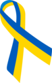 Blue and yellow ribbon UA.png