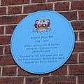 Blue plaque in Free School Lane - geograph.org.uk - 699079.jpg