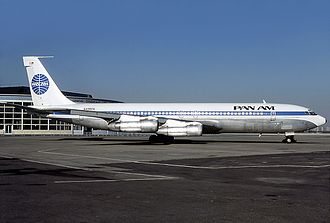 1973 Rome airport attacks and hijacking - A Pan Am Boeing 707–321, similar to the aircraft involved in the attack