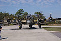 Boeing B-17G-85-DL Flying Fortress Nine-O-Nine Landing Taxi 32 CFatKAM 09Feb2011 (14797251650).jpg